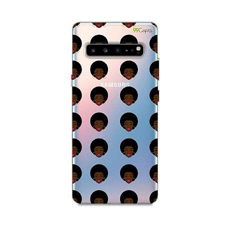 Capinha (transparente) para Galaxy S10 - Black Girl