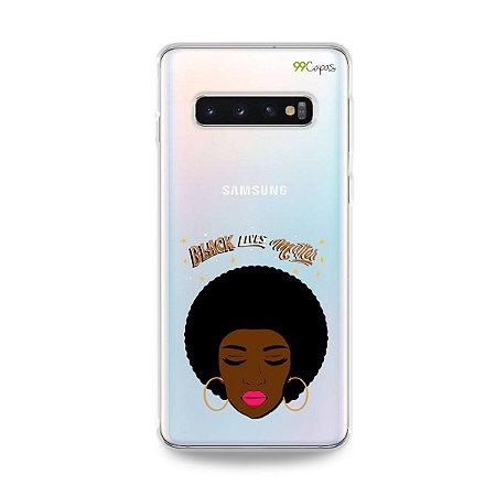 Capinha (transparente) para Galaxy S10 Plus - Black Lives