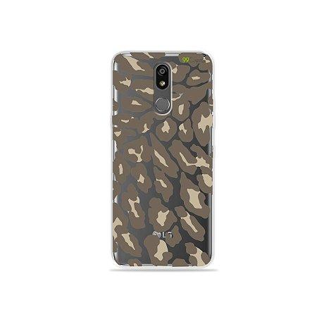 Capinha (transparente) para LG K12 Plus - Animal Print Nude