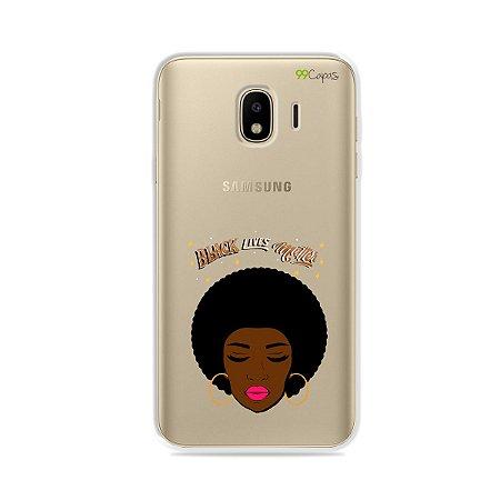 Capinha (transparente) para Galaxy J4 2018 - Black Lives