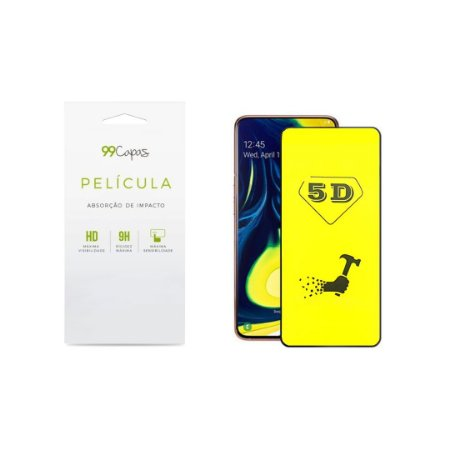 Película de Gel 5D (flexível) para Galaxy A80 - 99Capas
