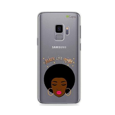 Capinha (transparente) para Galaxy S9 - Black Lives