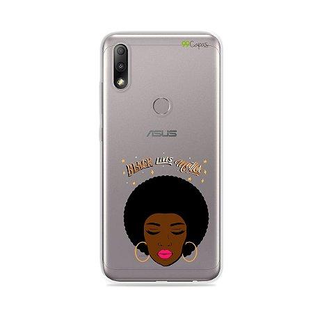 Capinha (transparente) para Zenfone Max Plus M2 - Black Lives
