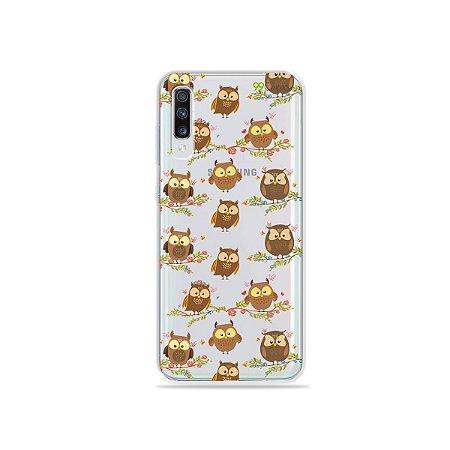 Capinha (transparente) para Galaxy A70s - Corujinhas