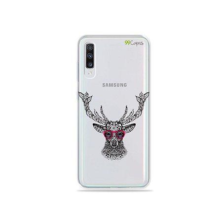 Capinha (transparente) para Galaxy A70s - Alce Hipster