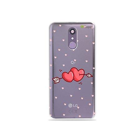 Capinha (transparente) para LG Q7 - In Love