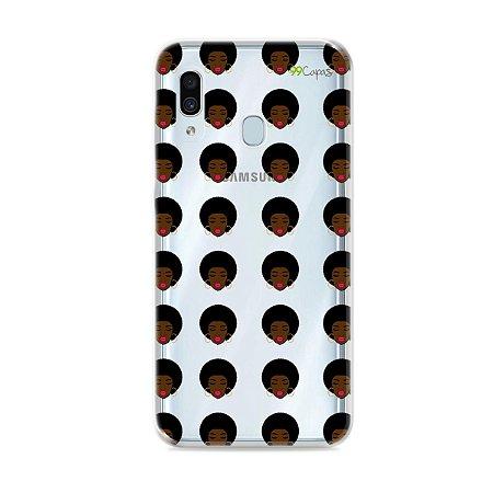 Capinha (transparente) para Galaxy A30 - Black Girl