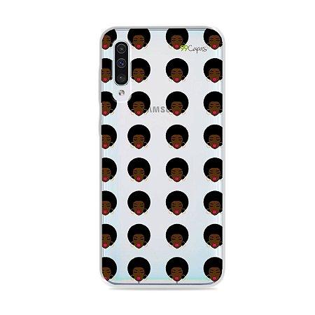 Capinha (transparente) para Galaxy A50 - Black Girl