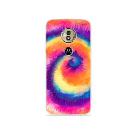 Capa para Moto G6 Play - Tie Dye Roxo