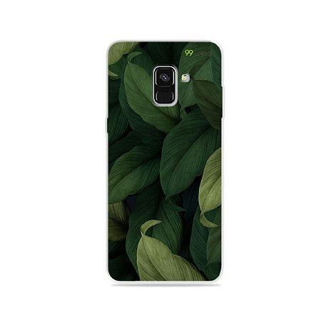 Capinha para Galaxy A8 Plus - Folhas
