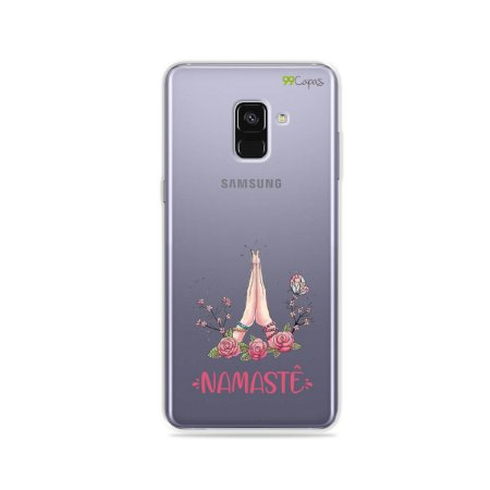 Capinha (transparente) para Galaxy A8 Plus - Namastê