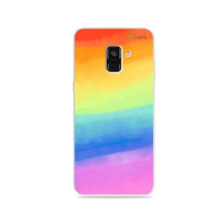 Capinha para Galaxy A8 Plus - Rainbow
