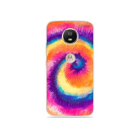 Capinha para Moto G5s - Tie Dye Roxo