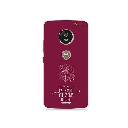 Capa para Moto G5 - Pai Nosso