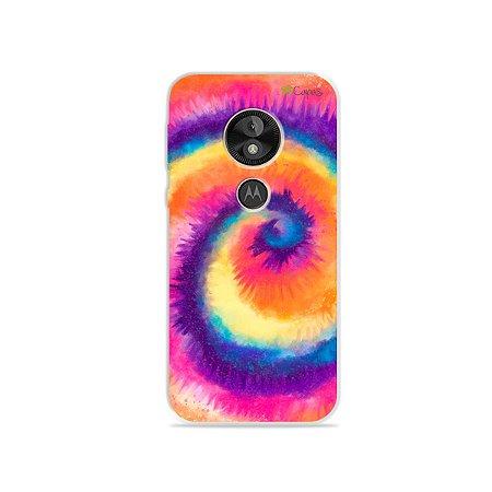 Capa para Moto E5 Play - Tie Dye Roxo