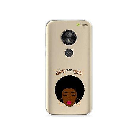 Capa para Moto E5 Play - Black Lives
