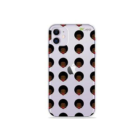 Capinha (transparente) para iPhone 11 - Black Girl