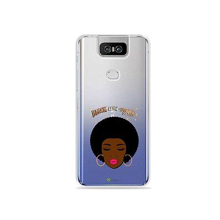 Capinha (transparente) para Zenfone 6 - Black Lives