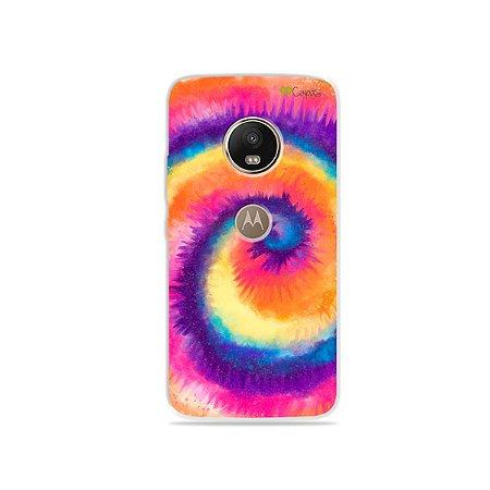 Capinha para Moto G5 Plus - Tie Dye Roxo