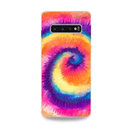 Capinha para Galaxy S10 Plus - Tie Dye Roxo