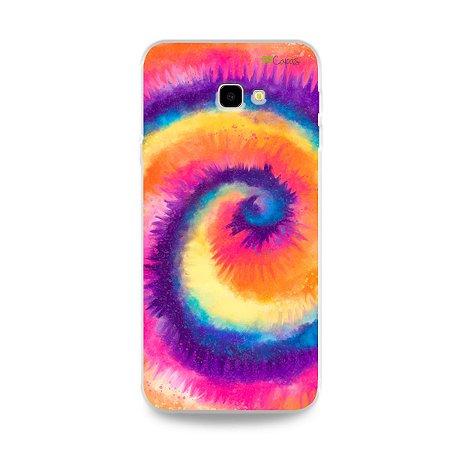 Capinha para Galaxy J4 Plus - Tie Dye Roxo