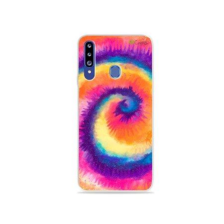 Capinha para Galaxy A20s - Tie Dye Roxo