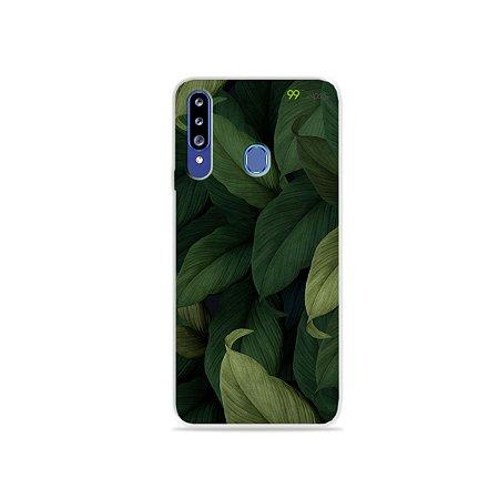 Capinha para Galaxy A20s - Folhas
