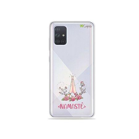Capinha (transparente) para Galaxy A71 - Namastê
