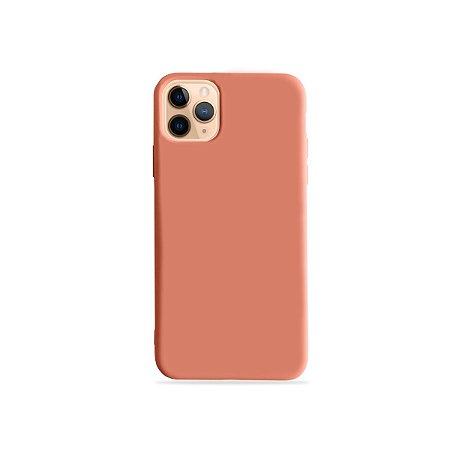 Silicone Case Pêssego para iPhone 11Pro (acompanha Pop Socket) - 99Capas