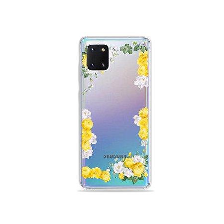 Capinha Yellow Roses para Galaxy Note 10 Lite