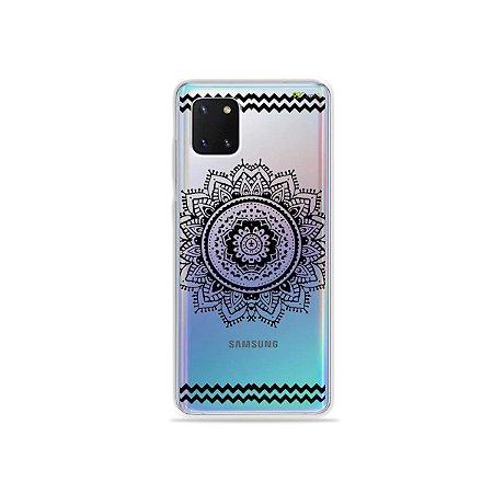 Capinha Mandala Preta para Galaxy Note 10 Lite