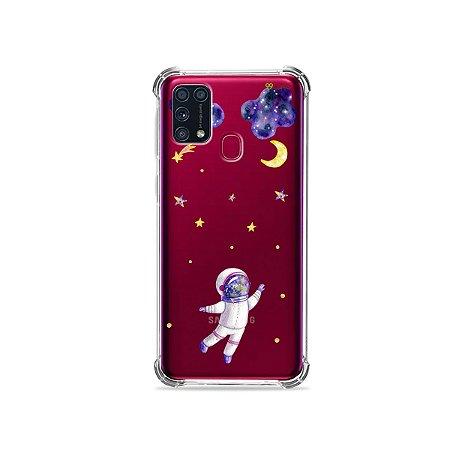 Capinha (transparente) para Galaxy M31 - Astronauta Sonhador