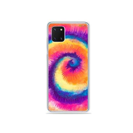 Capinha Tie Dye Roxo para Galaxy Note 10 Lite