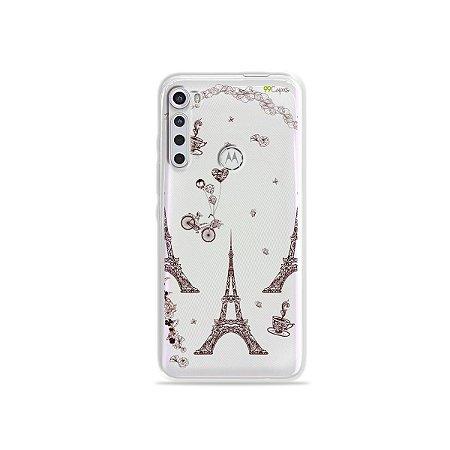 Capinha (transparente) para Moto One Fusion Plus - Paris