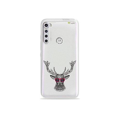Capinha (transparente) para Moto One Fusion Plus - Alce Hipster