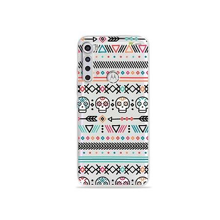 Capinha (transparente) para Moto One Fusion Plus - Tribal