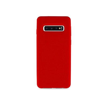 Silicone Case Vermelha para Galaxy S10 - 99Capas