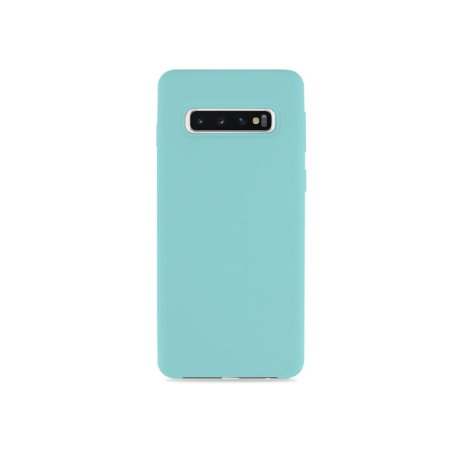 Silicone Case Verde Água para Galaxy S10 - 99Capas