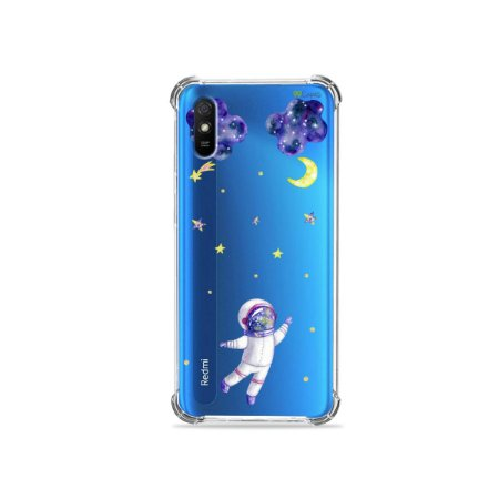 Capinha (transparente) para Redmi 9A - Astronauta Sonhador