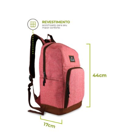 Mochila Office Rosa para Notebook  - 99Bags