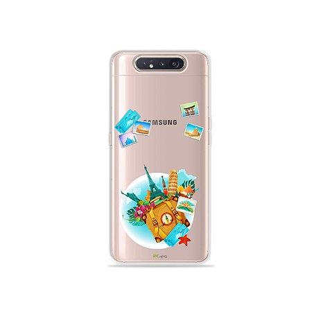 Capinha (Transparente) Memórias para Galaxy A80