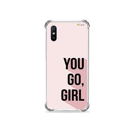 Capinha (transparente) para Redmi 9A - You Go, Girl