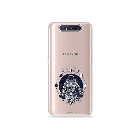 Capinha (Transparente) Astronauta para Galaxy A80