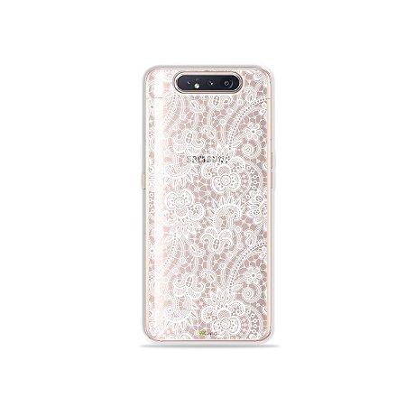Capinha (Transparente) Rendada para Galaxy A80