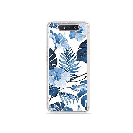 Capinha Flowers in Blue para Galaxy A80