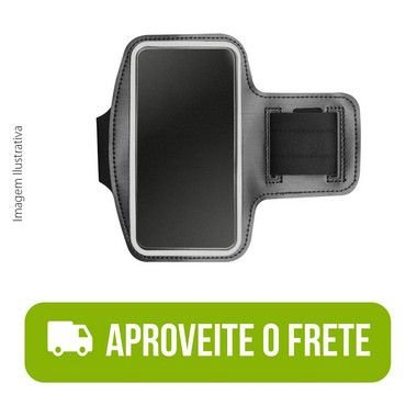 Braçadeira Esportiva Preta de Neoprene para Moto One Fusion Plus