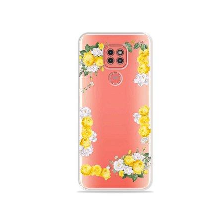 Capinha (Transparente) Yellow Roses para Moto G9 Play