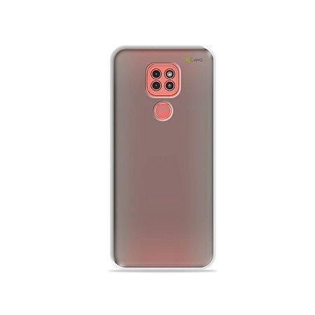 Capa Fumê Anti-Shock para Moto G9 Play {Semi-transparente}