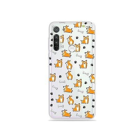 Capa (transparente) para Moto G8 - Cãozinho