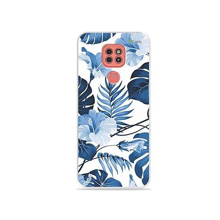 Capinha Flowers in Blue para Moto G9 Play
